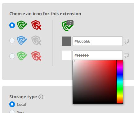Preview custom colors of badge