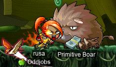 rusa vs. Primitive Boar